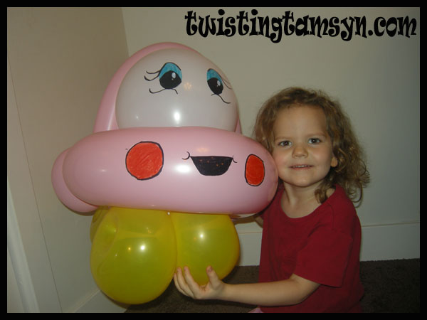 Pink balloon car