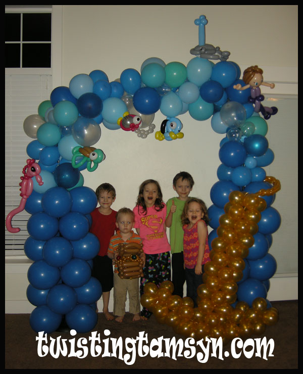 Ocean-themed balloon arch