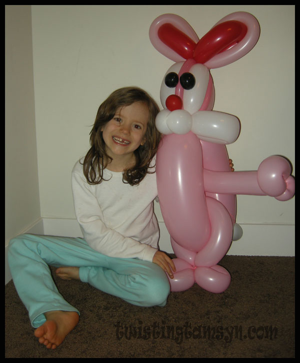 Large bunny balloon