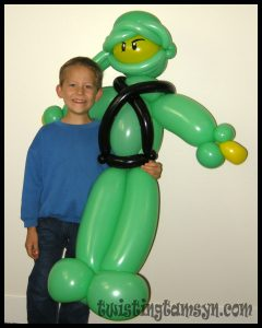 Giant balloon Ninjago- design by CJ Nelson
